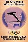 Эмблема плакат III зимние Олимпийские игры