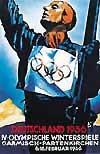 Эмблема плакат IV зимние Олимпийские игры