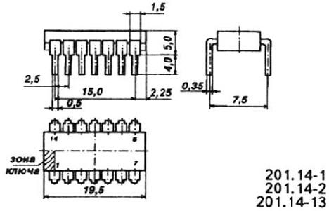 Изображение корпуса микросхемы
