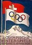 Эмблема плакат II зимние Олимпийские игры