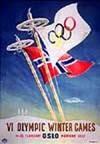 Эмблема плакат VI зимние Олимпийские игры