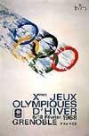 Эмблема плакат X зимние Олимпийские игры