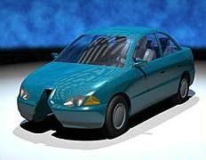 """Автомобиль от RUF выглядит почти так же, как машина, """"обнявшая"""" фонарный столб."""